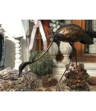Ptak metalowy czapla