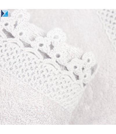 I.Iga Ręcznik koronka 50/90cm biel