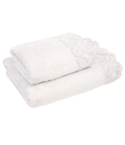 I.Koronka Ula ręcznik 50/90cm biały
