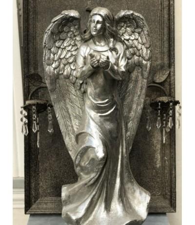 Figurka Anioł srebrny