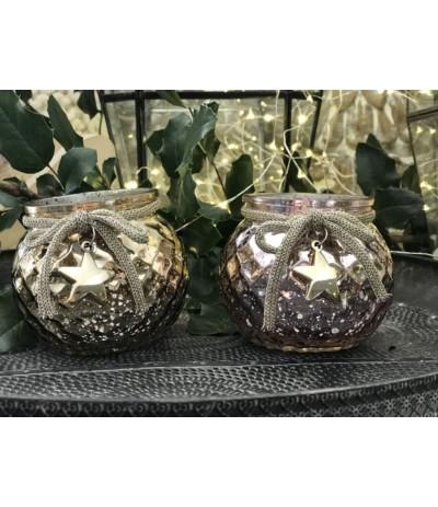 T.G.Lampion szklany złoty B.N.