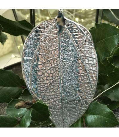 AM Zawieszka liść srebrny B.N.