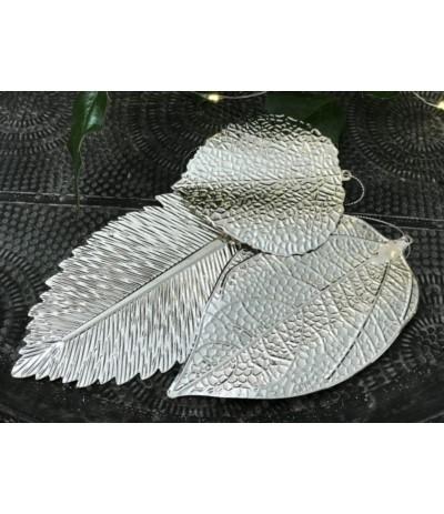 AM Dekoracja liść srebrny